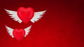 3d red heart with wings Royalty Free Stock Photography