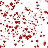 3d red hearts background Royalty Free Stock Photography