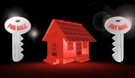 3d red house,illustration Stock Photography