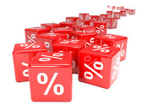 3d Red interest rate dice Royalty Free Stock Photos