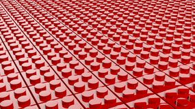 3D red of lego blocks Stock Image