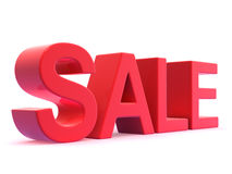 3d Red letter Sale Stock Photography