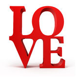 3d red LOVE text Royalty Free Stock Photography