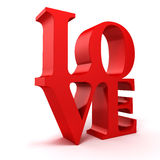 3d red LOVE text Royalty Free Stock Images