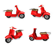 3d red motorcycle range four set . 3D Icon Design Series. Stock Images