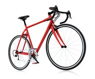 3d red mountain bike. Rendered on white background Royalty Free Stock Image