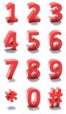 3d red numbers Royalty Free Stock Photography