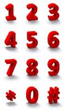 3d red numbers Stock Image