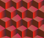 3d red pattern cubes. Red background royalty free stock images