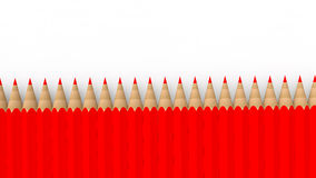 3d red pencils Royalty Free Stock Photography