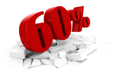 3d red percent discount Royalty Free Stock Image