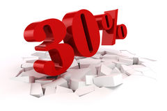 3d red percent discount Royalty Free Stock Photos