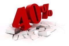 3d red percent discount Stock Photos
