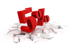 3d red percent discount Stock Photo