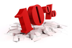 3d red percent discount Royalty Free Stock Images
