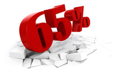 3d red percent discount Royalty Free Stock Photo
