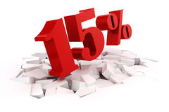 3d red percent discount Royalty Free Stock Photography