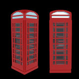 3d red phone booth Stock Photo
