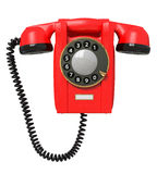 3d red phone. Royalty Free Stock Photo