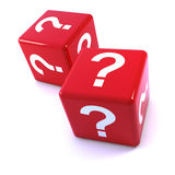 3d Red question mark dice Stock Image