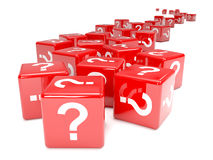 3d Red question mark dice Royalty Free Stock Photography