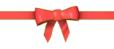 3d Red ribbon and bow Royalty Free Stock Photos