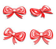 3D Red Ribbon icon. 3D Icon Design Series. Royalty Free Stock Photos
