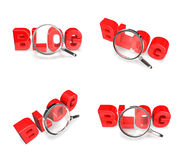 3d red sale letter with magnifier Royalty Free Stock Photo