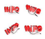 3d red sale letter with magnifier . 3D Icon Design Series. Stock Image