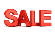 3d red sale word Stock Image