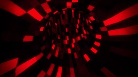 3D Red Sci-Fi Arificial Intelligence Tunnel - VJ Loop Motion Background. Cyber 3D Red Sci-Fi Arificial Intelligence Tunnel - VJ Loop Motion Background Backdrop stock video