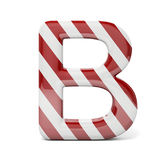 3d red, shiny letter. On white background vector illustration