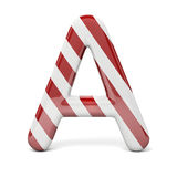 3d red, shiny letter. On white background royalty free illustration