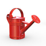 3d red shiny watering can Stock Images
