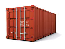 3d Red shipping container Stock Image