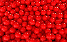 3d red spheres background Stock Photo