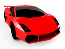 Red sports car  on white background Royalty Free Stock Photos
