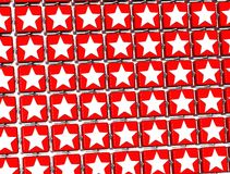 3D Red Stars Sign blocks.  Royalty Free Stock Photography