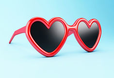 3d red sunglasses. Royalty Free Stock Photography