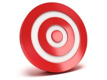 3d red target Royalty Free Stock Image