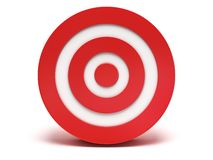 3d red target Stock Photography