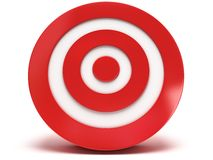 3d red target Royalty Free Stock Photography