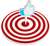 3d red  target with  like sign Stock Image