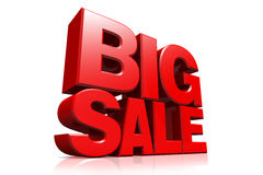 3D red text big sale Stock Images