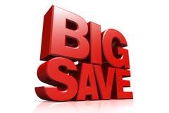 3D red text big save Stock Photos
