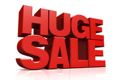 3D red text huge sale Stock Image