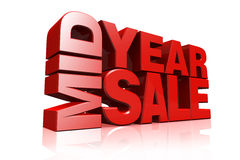 3D red text mid year sale Royalty Free Stock Images