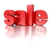3d red text SALE Stock Photos