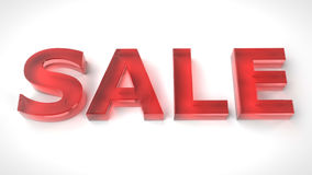 3d red text SALE on white background Royalty Free Stock Photography