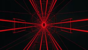 3D Red Tron Style Tunnel Loopable Motion Background stock footage